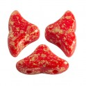 Perles Helios® par Puca® 6x10mm OPAQUE CORAL RED SPLASH (x10g)
