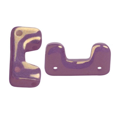 Perles Telos® par Puca® 6x12mm OPAQUE MIX AMETHYST GOLD CERAMIC LOOK (x10g)
