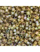 Perles Miyuki Delicas 11/0 DB1738 Cocoa Lined Chartreuse AB (x5g)