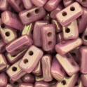 Perles Piros® par Puca® 3x5mm OPAQUE MIX VIOLET GOLD CERAMIC LOOK (x5g)
