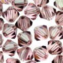Perles toupie cristal Swarovski 4mm Light Rose Satin (x50)