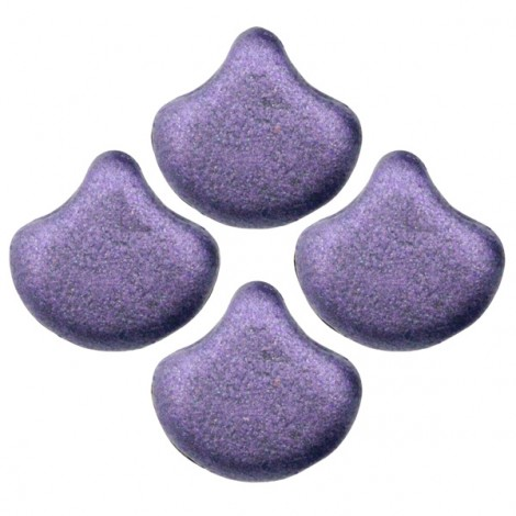 Perles Ginko Leaf 7x7mm METALLIC SUEDE PURPLE (x10g)