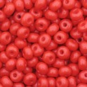 Perles de rocaille 4mm rouge opaque (x20g)