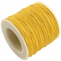 Fil coton ciré 1mm jaune d'or (x5m)