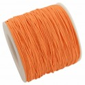 Fil coton ciré 1mm orange (x5m)