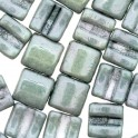 Fixer Bead HORIZONTAL 7x8mm GREEN LUSTER (x5g)