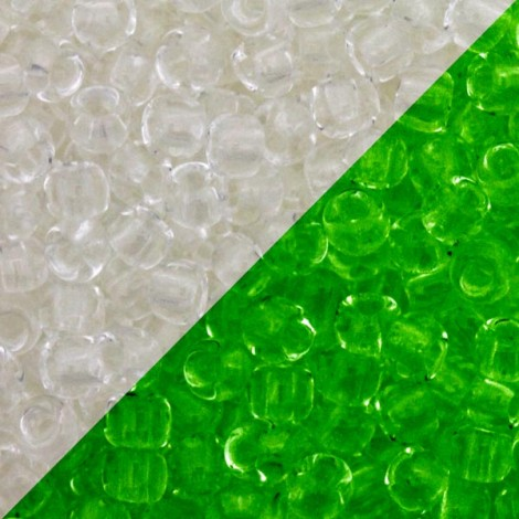 Perles de rocaille 11/0 TOHO 2710 Glow In The Dark Crystal Bright Green (x10g)