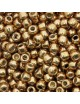 Perles de rocaille 11/0 TOHO PF591 Permafinish Galvanized Old Gold (x10g)