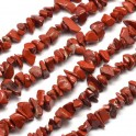 Perles gemmes chips 4-10mm Jaspe rouge Naturel (x80cm)