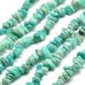 Perles gemmes chips 4-10mm Amazonite Naturel (x80cm)
