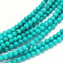 Perles gemmes rondes 4mm Turquoise du Xinjiang (x50)