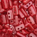 Perles Piros® par Puca® 3x5mm Opaque Coral Red Luster (x5g)