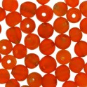 Perles rondes en verre 4mm orange givré (x100)