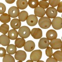 Perles rondes en verre 4mm taupe mate (x100)