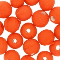 Perles rondes en verre 6mm orange mate (x40)