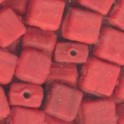 Perles pastille carrée 6x6mm rouge (x35)