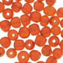 Perles rondes en verre 4mm orange translucide (x100)