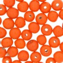 Perles rondes en verre 4mm orange lustré (x100)