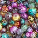 Perles marbrées 4 - 8mm assortiment (x50)
