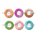 Perles donut percé en nacre 20mm couleurs assorties (x6)